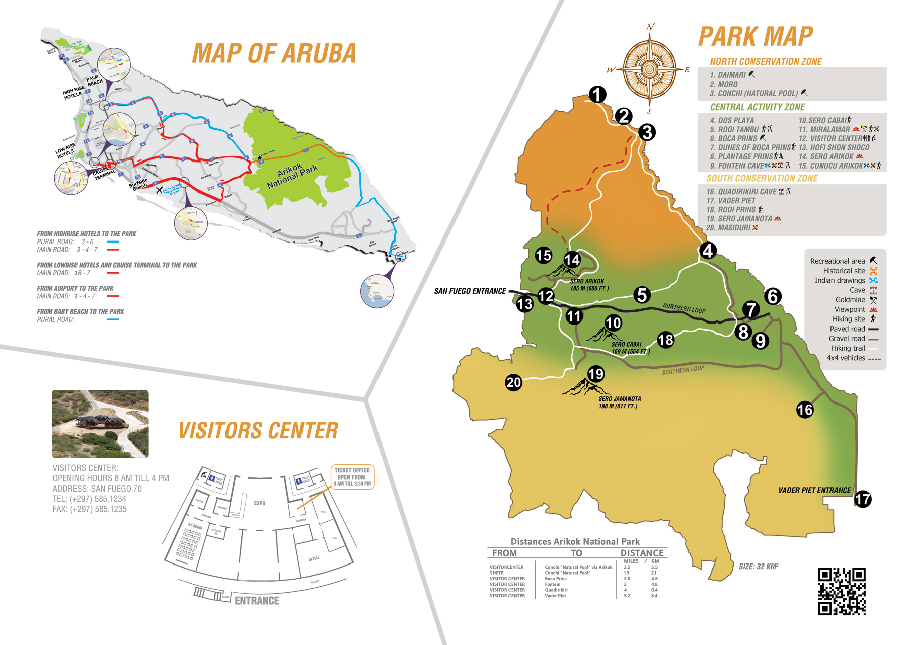 Park Map | Arikok National Park Foundation – Aruba